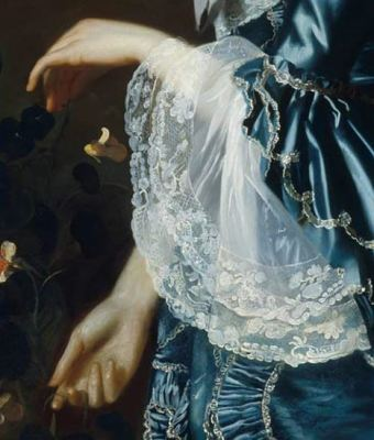 John Singleton Copley Mrs. James Warren (Mercy Otis) detail