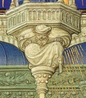 Annonciation Belles heures de jean du berry folio 30r MET detail Isaie
