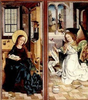 Annunciation Unbekannter Meister, 15. Jahrhundert
