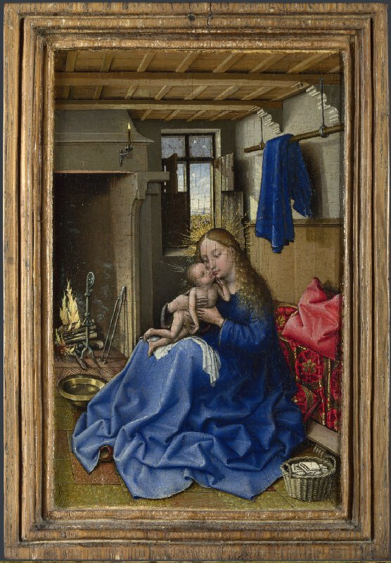 Atelier de Campin, The Virgin and Child in an Interior, avant 1432, National Gallery