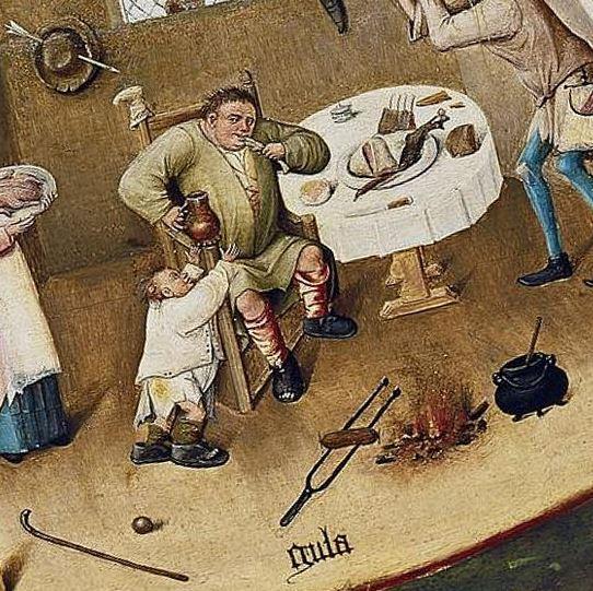 Bosch Gula Table des 7 peches capitaux vers 1500 Museo del Prado, Madrid