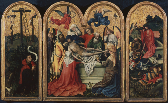 Campin Mise au tombeau Seilern ca 1425 The Courtauld Institute of Art