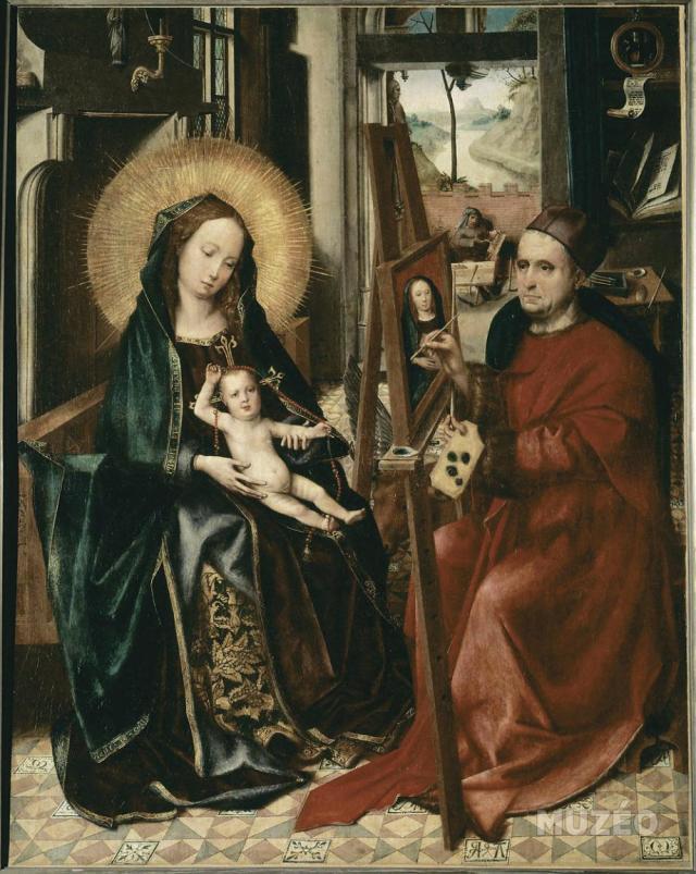 Colin de Coter 1493 Saint Luc peignant la Vierge, Eglise de Notre-Dame de Vieure