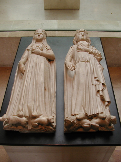 Gisants-de-Charles-IV-le-Bel-et-Jeanne-dEvreux-pour-labbatiale-cistercienne-de-Maubuisson-musee-du-Louvre