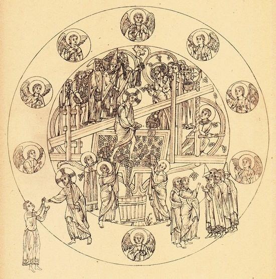 Hortus Deliciarum, Herrade de Landsberg, entre 1159 et 1175