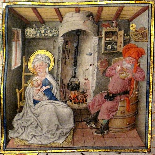 La Sainte famille Heures de Catherine de Cleves vers 1440