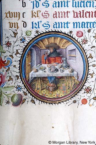 Morgan Library Manuscrit M.358 1445 Provence Mois de fevrier