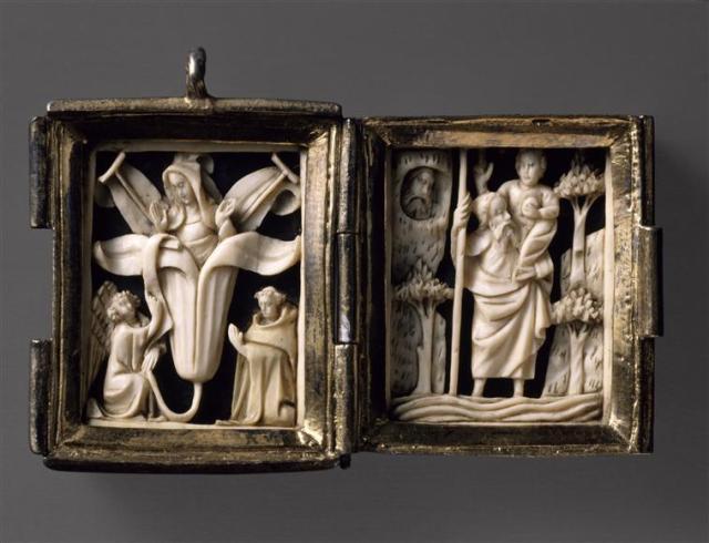 Pendentif en forme de diptyque Annonciation. Saint Christophe Louvre