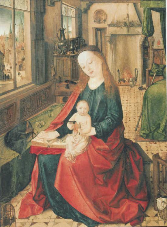 Petrus Christus Vierge a l'enfant vers 1450, Galería Sabauda Turin