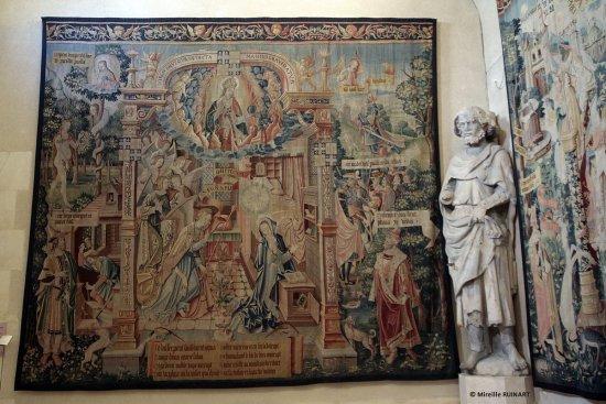 Reims, Palais du Tau Scènes de la vie de la Vierge annonciation