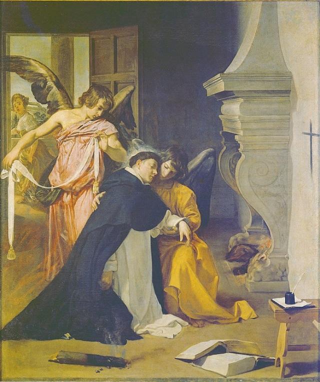 Velazquez 1632 Musee d'Oriola Tentation de Saint Thomas d'Aquin