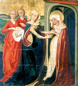 Visitation 1480-90 Graz Institution Universalmuseum Joanneum