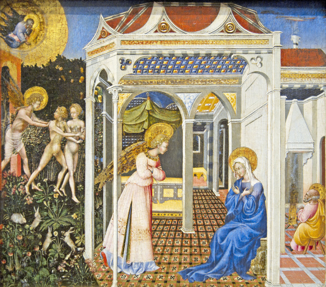 giovanni di paolo annunciation c. 1435 national gallery washington