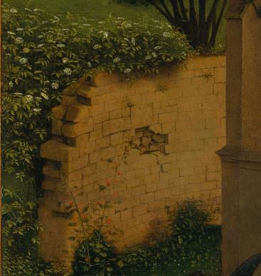 Annonciation Petrus Christus detail jardin