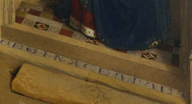 Annonciation Petrus Christus detail seuil