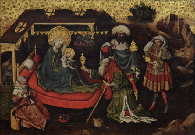 Anonimo dell'Alto Reno, Adorazione dei Magi, XV sec, Galleria Sabauda di Torino