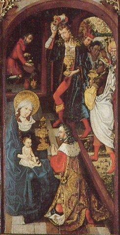 Martin DIEBOLD Retable Jugement Dernier Haguenau 1496-1497 Adoration rois mages