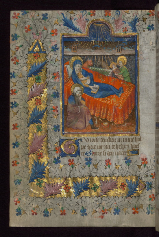 Nativite Amherst Hours Pays Bas XVeme W167 fol 33v Walters library