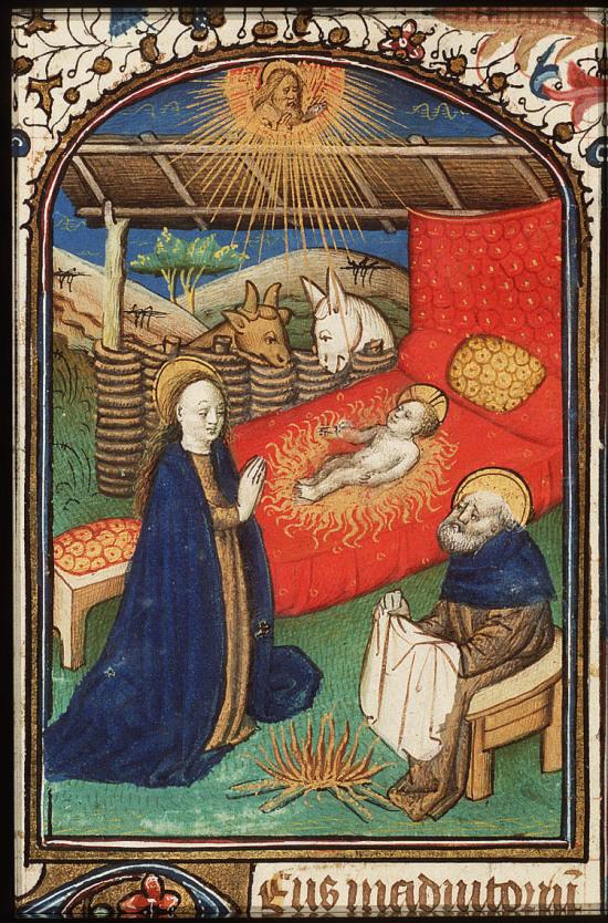 Nativite Heures à l'usage de Besancon vers 1450 bibliotheque nationale des Pays Bas
