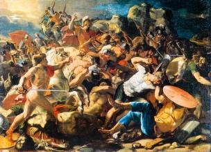 Poussin 1624-25 Victoire de Josue sur les Amoreens Musee Pouchkine moscou