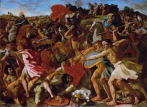 Poussin 1624-25 Victory of Joshua over the Amalekites Ermitage