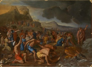 Poussin 1632-1634 Le passage de la Mer Rouge Victoria Gallery of Arts