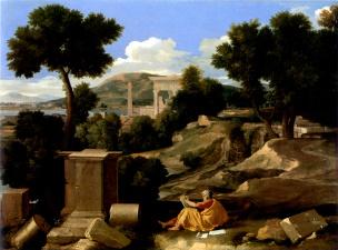 Poussin 1640 Paysage_avec_saint_Jean_a_Patmos_-_Chicago_Art_Institute