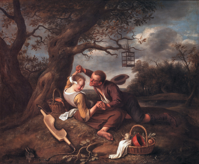 A merry couple, by Jan Steen