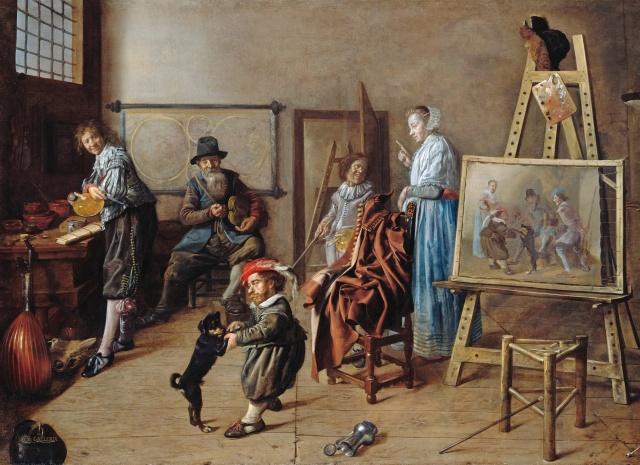 Jan-Miense-Molenaer-1631-Latelier-de-lartiste-Berlin-Gemaldegalerie