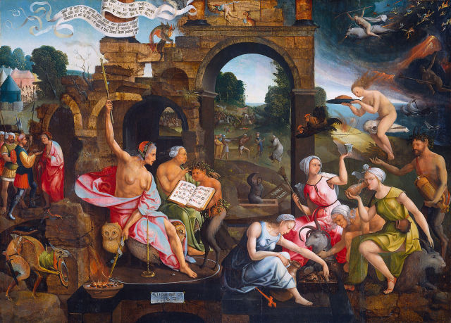 Saul_and_the_Witch_of_Endor_by_Jacob_Cornelisz_van_Oostsanen 1526 Rijkmuseum