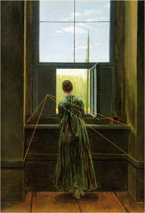 caspar david friedrich femme fenêtre