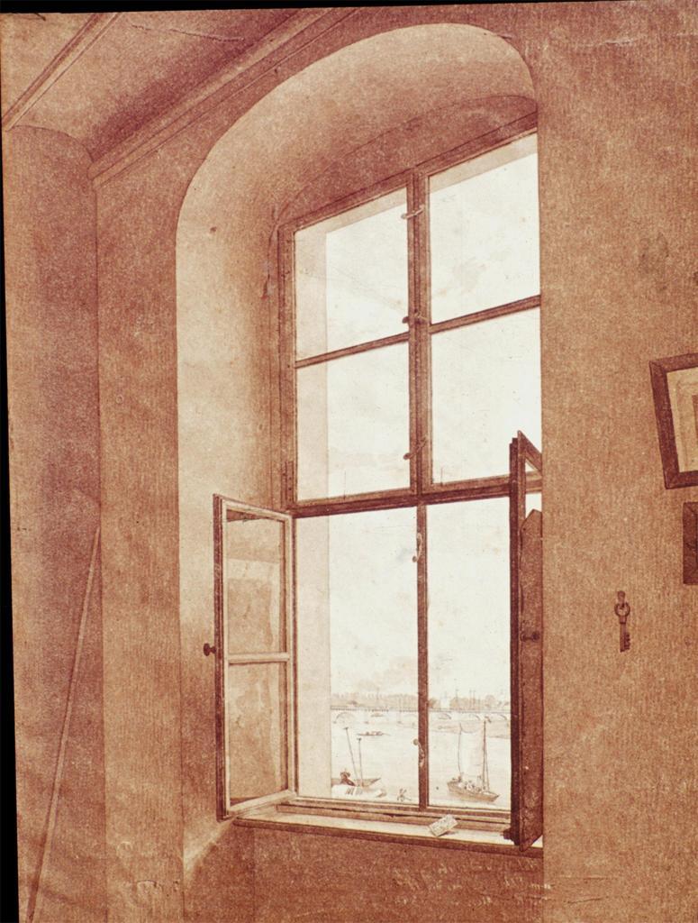 Caspar David Friedrich Fenêtre gaucge atelier