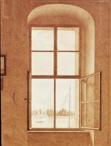 Caspar David Friedrich Fenêtre atelier droite