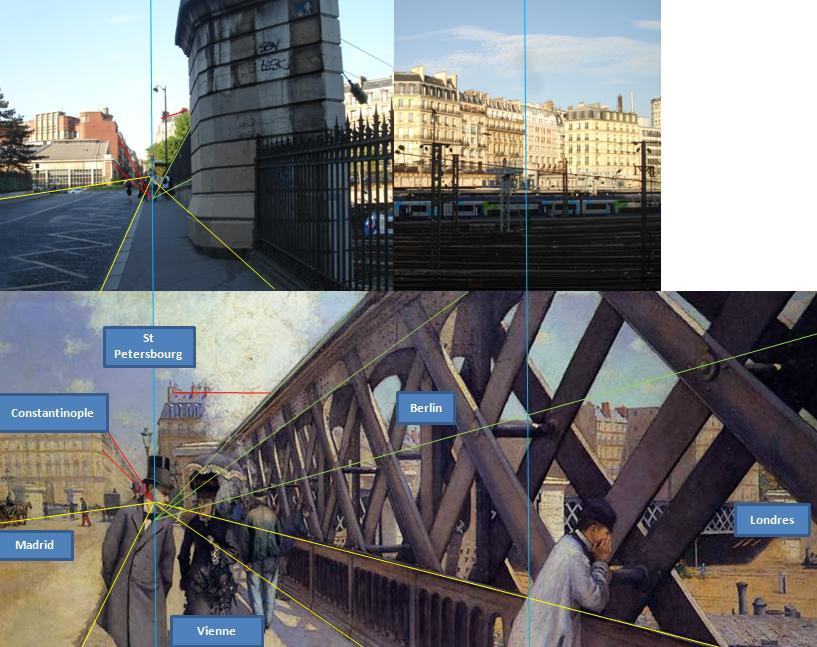Caillebotte Pont de l'Europe Perspective