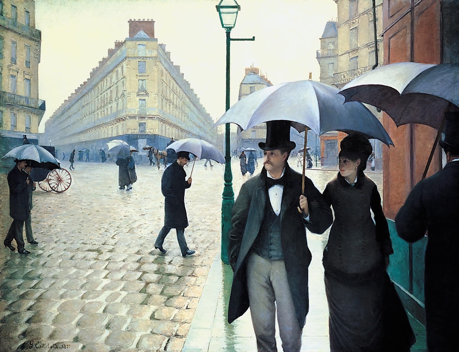 Caillebotte Rue de Paris, temps de pluie