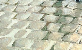 Caillebotte Rue de Paris, temps de pluie Pavés