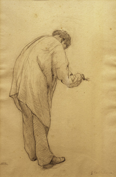 G.Caillebotte, Maler bei der Arbeit -  - G. Caillebotte / 'Etude pour les peintre