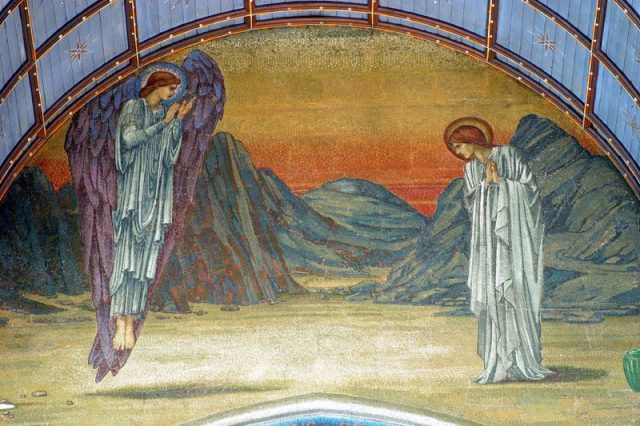1894 Burne-Jones mosaic San Paolo entro le mura Roma