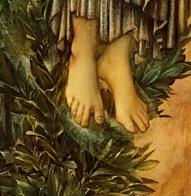 Burne Jones Annonciation Ange Pieds