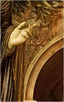 Burne Jones Annonciation Bas Relief Gauche