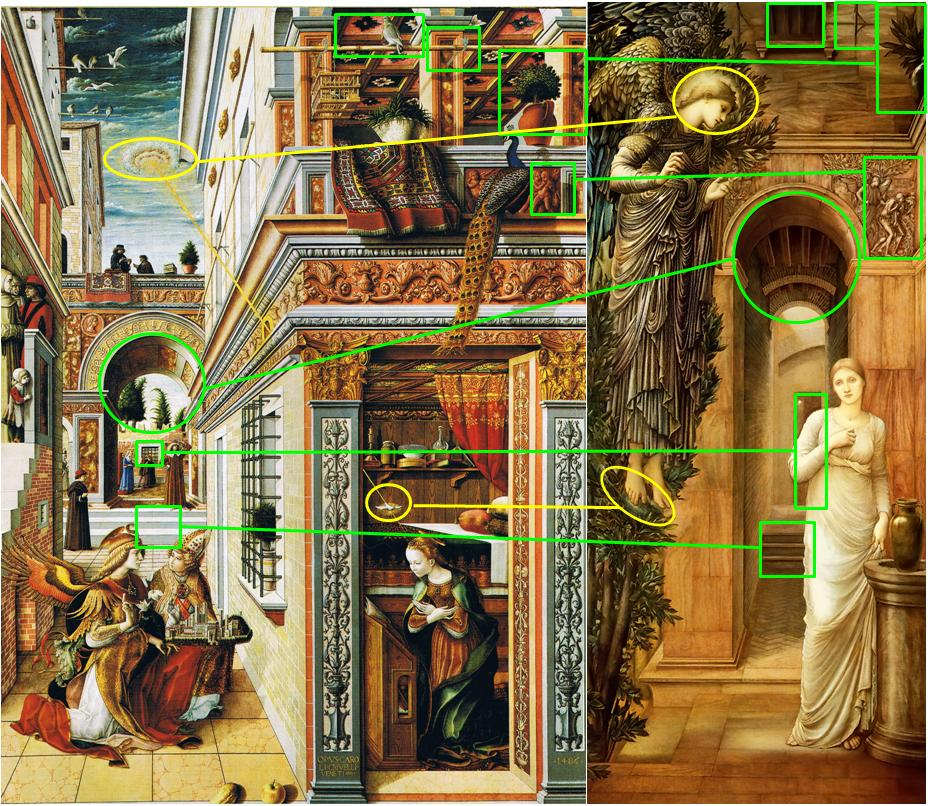 Burne Jones Annonciation Comparaison Crivelli
