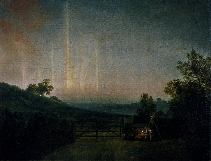 Jens Juel Paysage aurore boréale