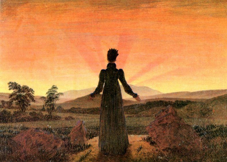 caspar david friedrich femme soleil levant couchant