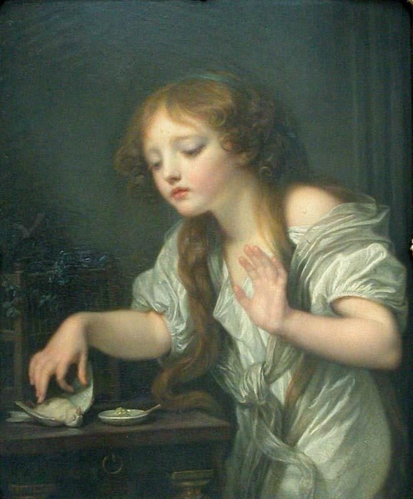 Greuze-L'oiseau mort 1759 1800