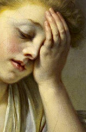greuze-jeune-fille-pleurant-la-mort-de-son-oiseau-1765 detail main