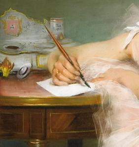 Carrier_Belleuse_Pierre_Danseuse-Ecrivant_Ecritoire