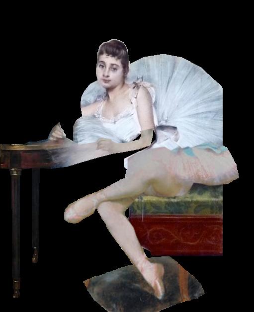 Carrier Belleuse Pierre Danseuse Ecrivant recomposée