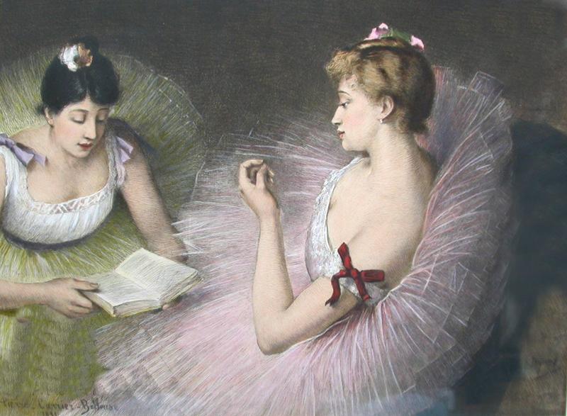Pierre Carrier-Belleuse 1891 Danseuses-Lisant_Livre