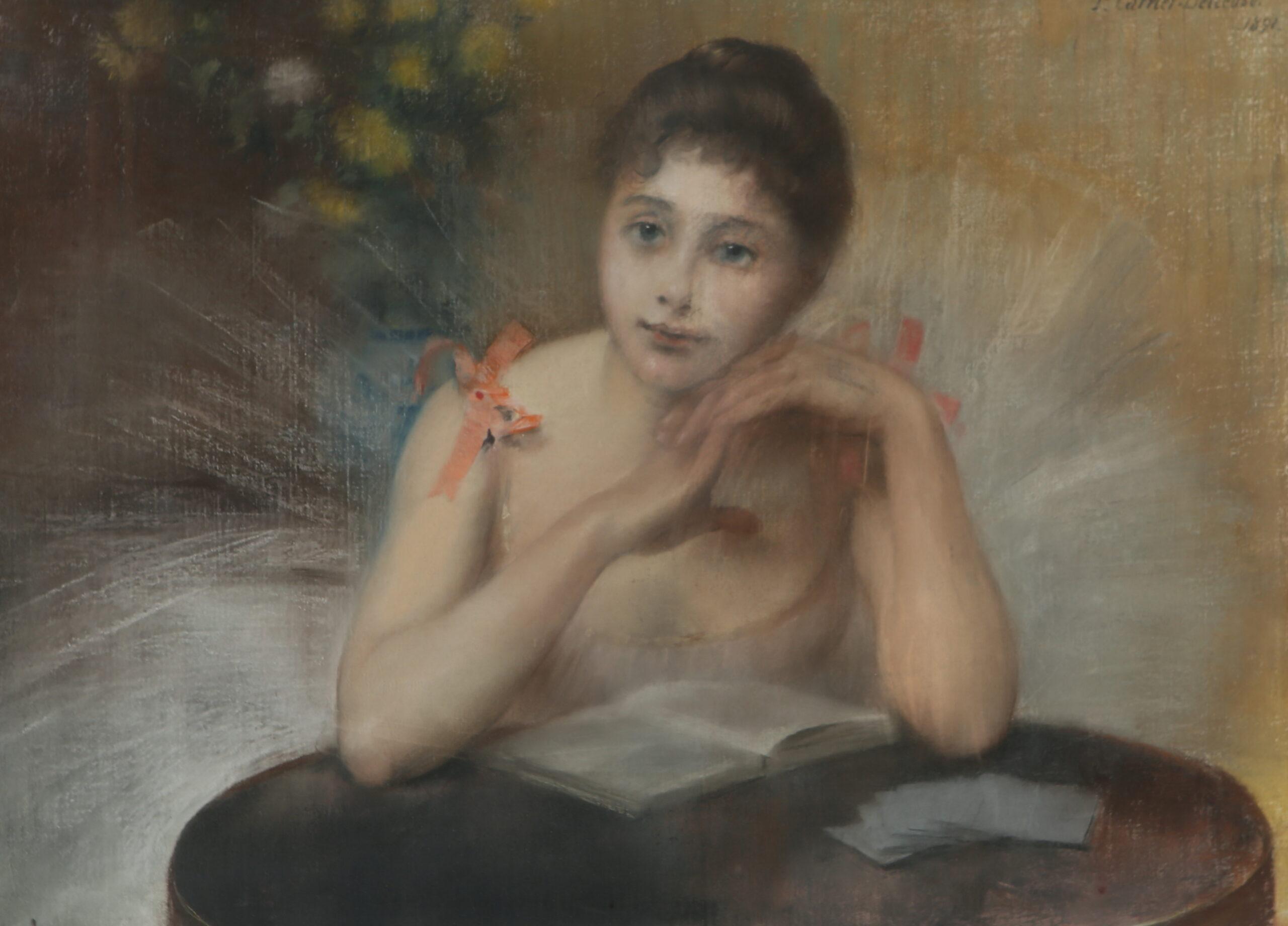 Pierre Carrier-Belleuse 1891 danseuse avec livre
