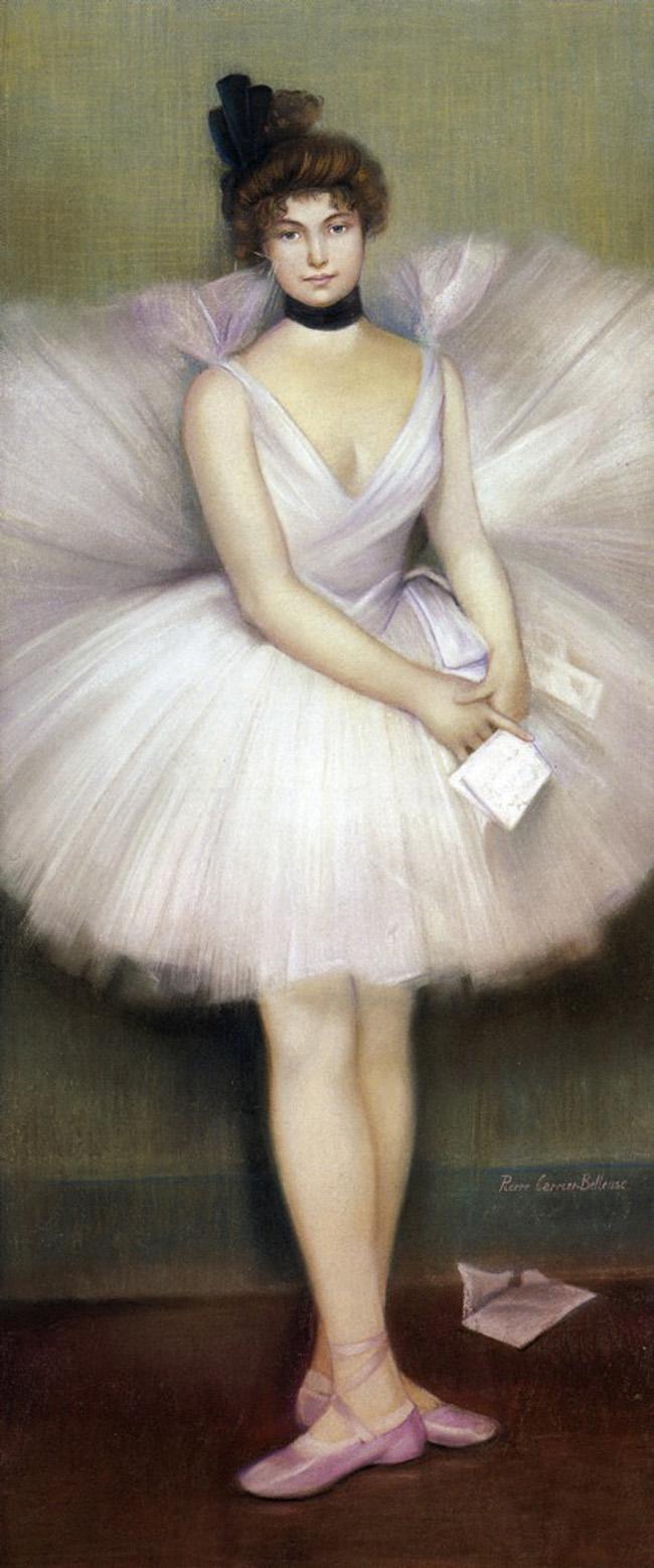 Pierre Carrier-Belleuse Danseuse tenant lettre